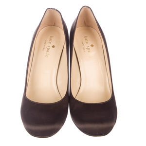 kate spade Shoes - Kate Spade New York Satin Round-Toe Pumps Size 5.5